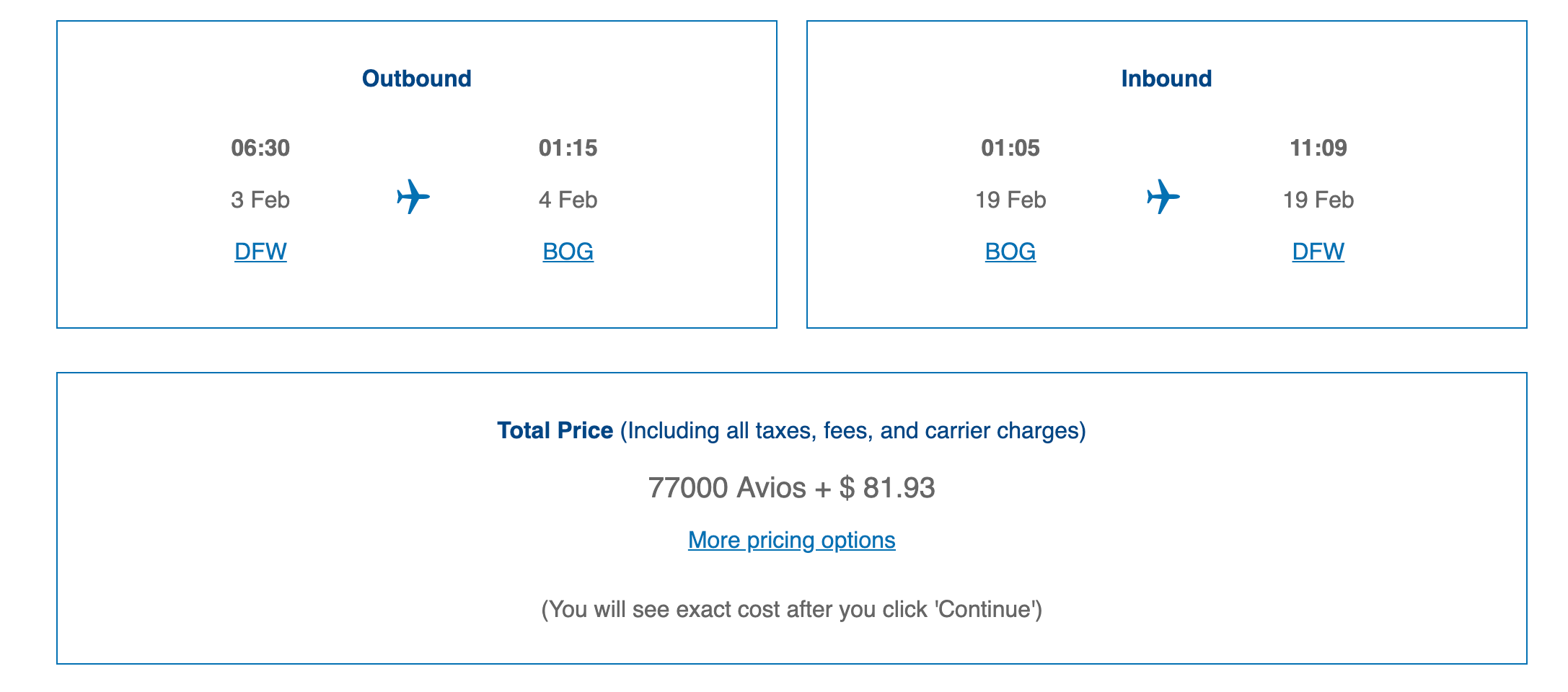 First class to South America with Chase points