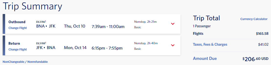 delta flight options bna to jfk october 2019 cash 206