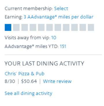 guide to americans aadvantage dining program
