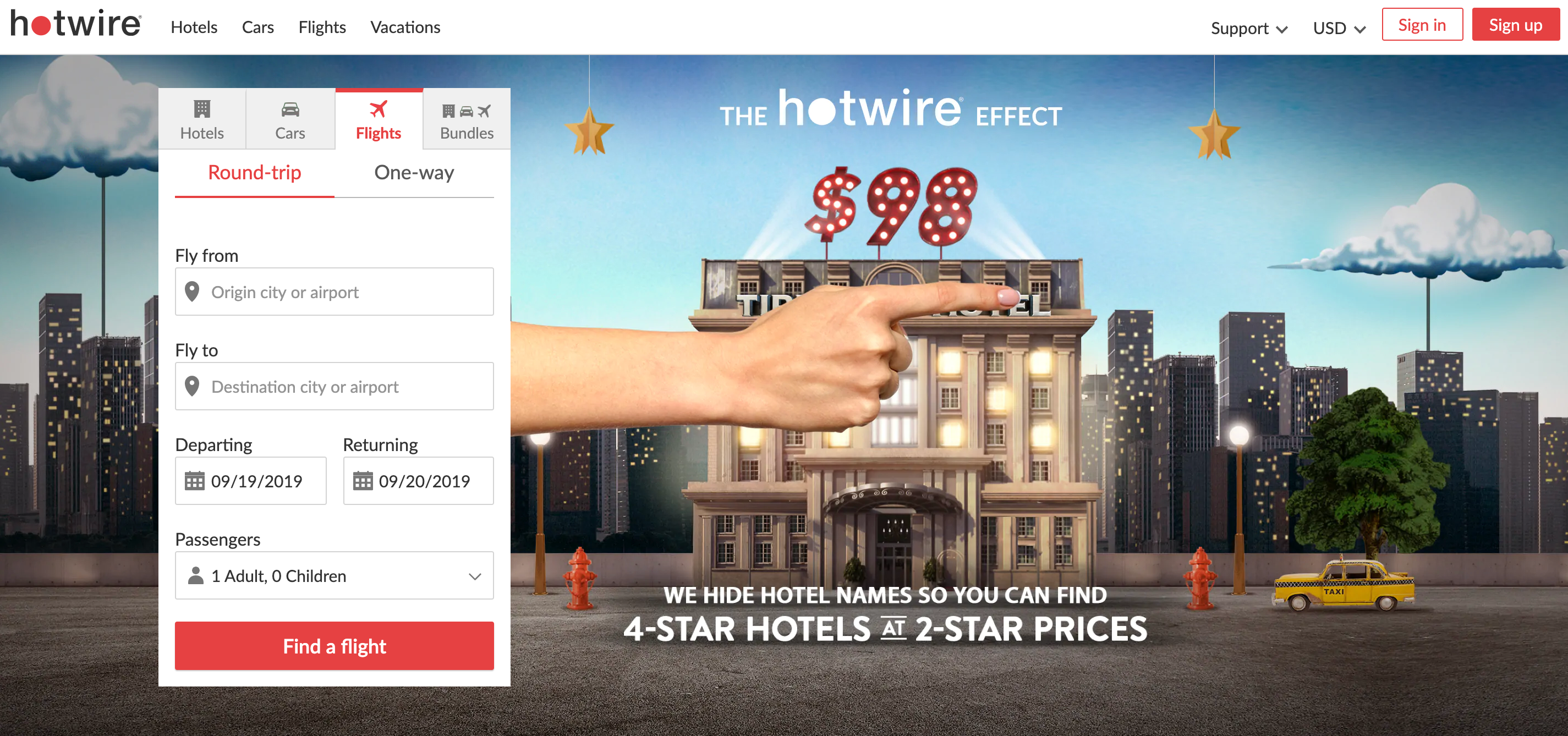 Hotwire to Find Cheap Hotels and Flights