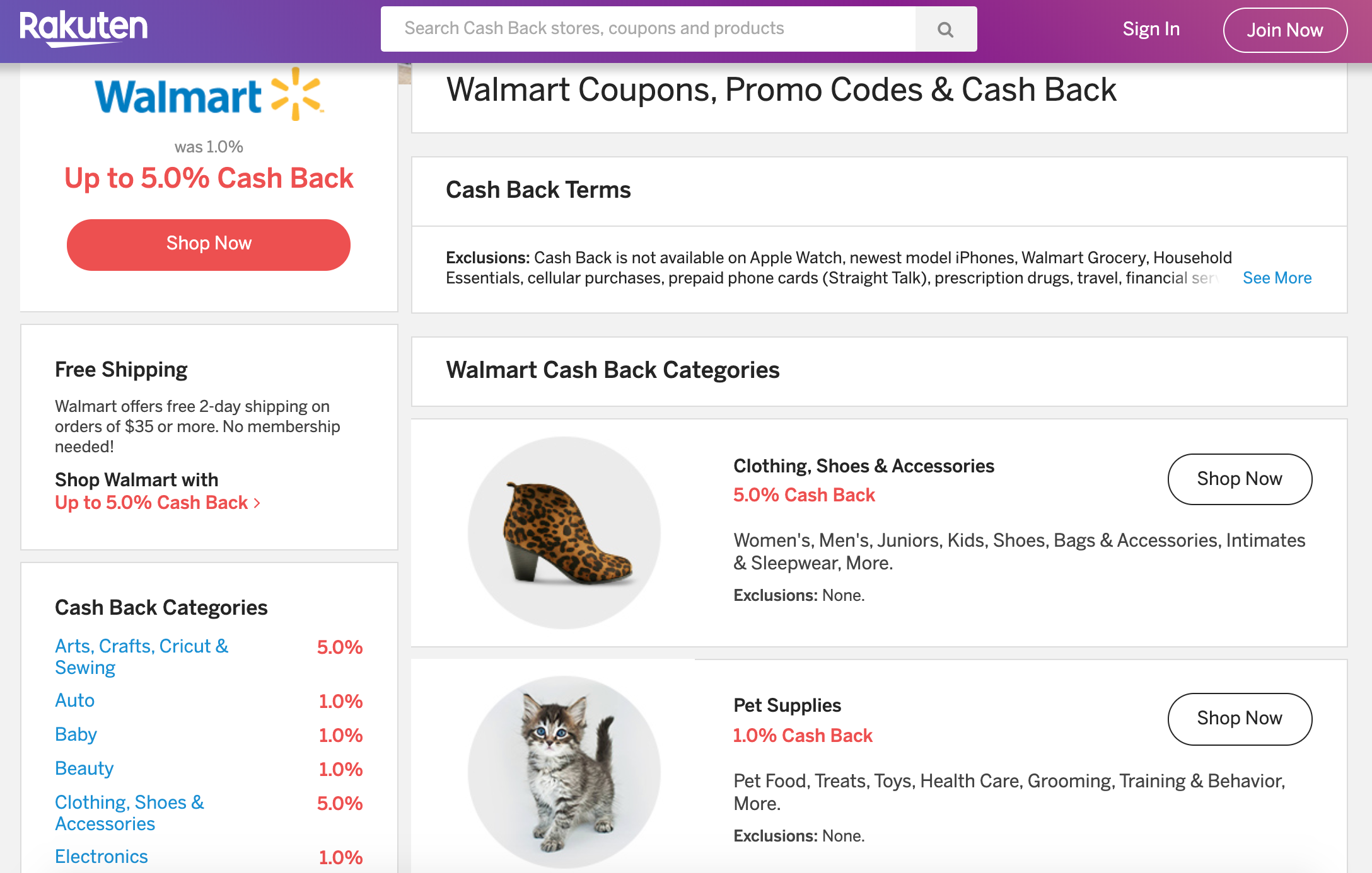 Earn Serious Cashback At Walmart