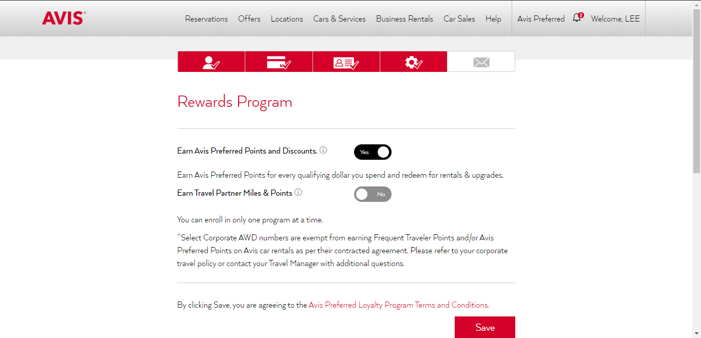 Avis Preferred Rewards